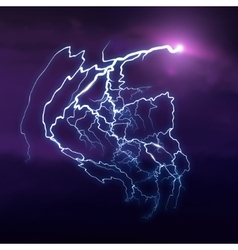 Background With Cloud and Lightning vector image