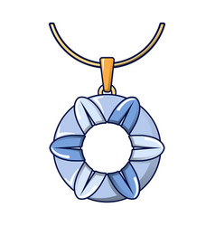 blue necklace icon cartoon style vector image