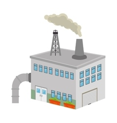 Building factory isolated icon vector