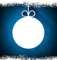 Christmas paper ball on blue background vector