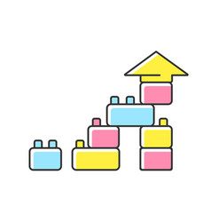 construction toy rgb color icon vector image