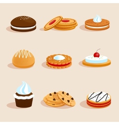 Cookies set isolated vector image