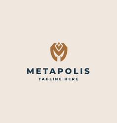 creative professional trendy monogram m logo vector image