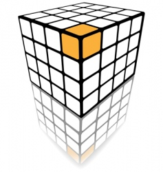 cube puzzle box vector image vector image