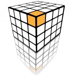 Cube puzzle box vector