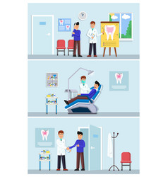 dental clinic set vector image