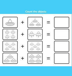 Educational mathematical game for kids with spaces vector
