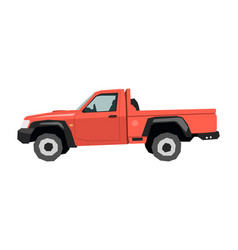 farm pickup drawing off-road car in cartoon style vector image