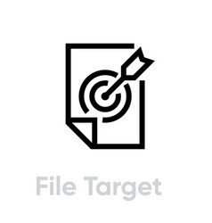 File target icon editable line vector