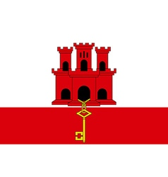 Flag of Gibraltar vector
