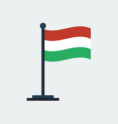 flag of hungary flag stand vector image