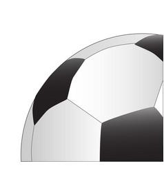 football up close vector image