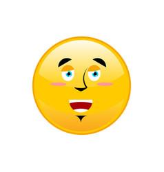 funny emoji isolated cheerful yellow circle vector image