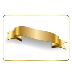 Gold satin ribbon on white 7 vector