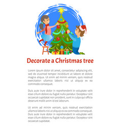 greeting card merry christmas wishes boy and girl vector image