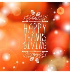 Happy Thanksgiving - typographic element vector