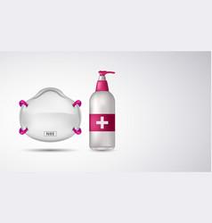 Immune system hand sanitizer n95 mask for corona vector
