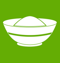 Indian spicy icon green vector