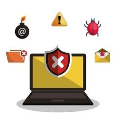 Internet security information icon vector