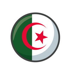 Isolated algeria flag icon block design vector