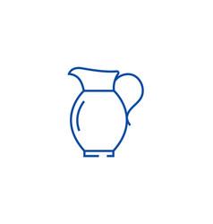 jar line icon concept jar flat symbol vector image