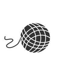 Knitting yarn clew glyph icon vector