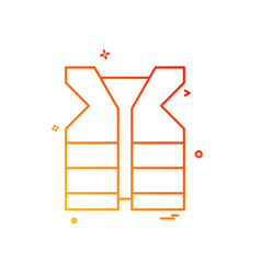 life jacket icon vector image