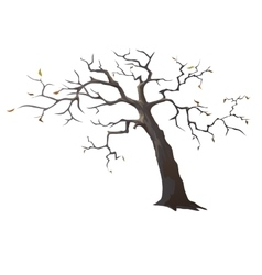 Lonely dead tree with sparse leaves vector