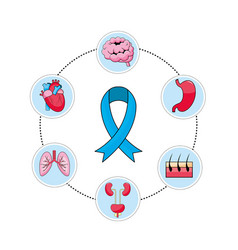 mens health ribbon with prevention diagnosis vector image