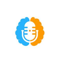 mind podcast logo icon design vector image