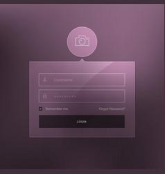 minimal login form template design vector image