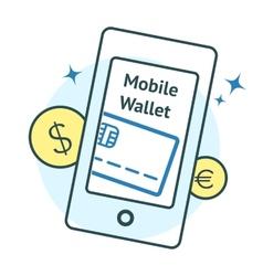 Mobile Wallet concept vector image