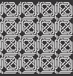 monochrome seamless pattern of triangles shaped vector image