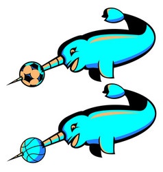 Narwhal sports logo vector
