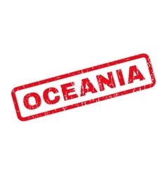 Oceania Rubber Stamp vector image