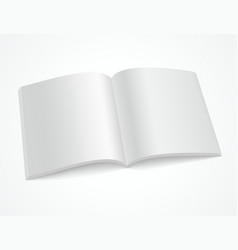 open blank brochure or magazine vector image