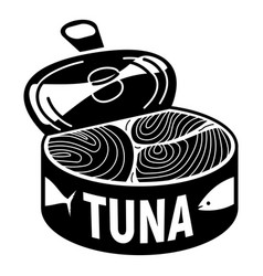 Open tuna can icon simple style vector