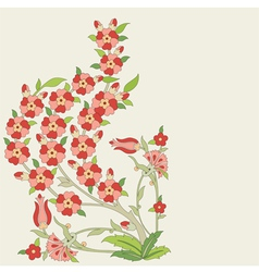 Ottoman art flowers eighteen vector