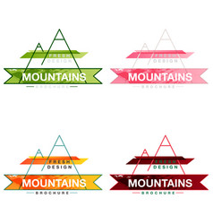 patterns setmountains logo design template vector image