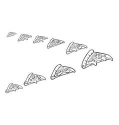 Pizza slice like bird coloring vector