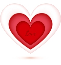 Plastic heart with cutout hearts inside vector image