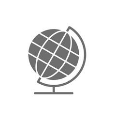 school globe earth model grey icon vector image