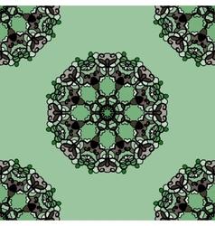 Seamless green mandala flower Ornamental vector image
