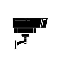 security camera black icon sign on vector image