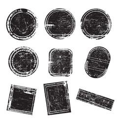set grunge rubber stamps vector image