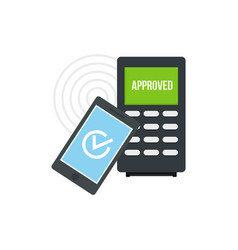 smartphone payment nfc device icon flat style vector image