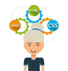 software programmer vector image