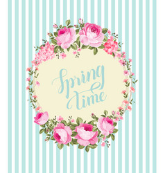 Spring background with sakura flowers vector