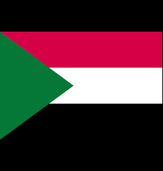 Sudan flag flat vector