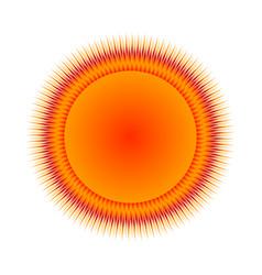 Sun icon on white vector